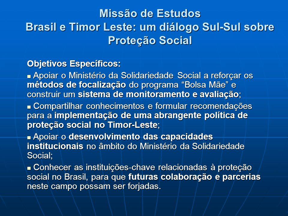 Missão de Estudos Brasil e Timor Leste: um diálogo Sul-Sul sobre Proteção Social