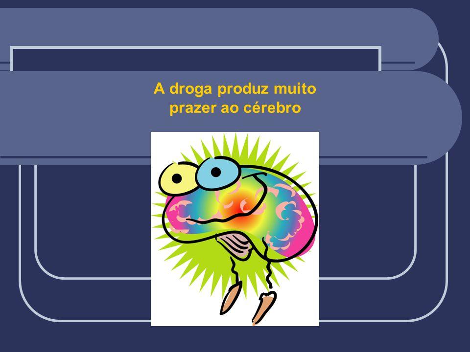 A droga produz muito prazer ao cérebro