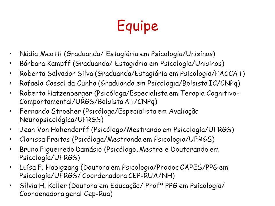 Equipe Nádia Meotti (Graduanda/ Estagiária em Psicologia/Unisinos)