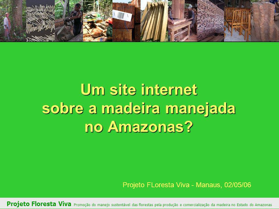 Um site internet sobre a madeira manejada no Amazonas