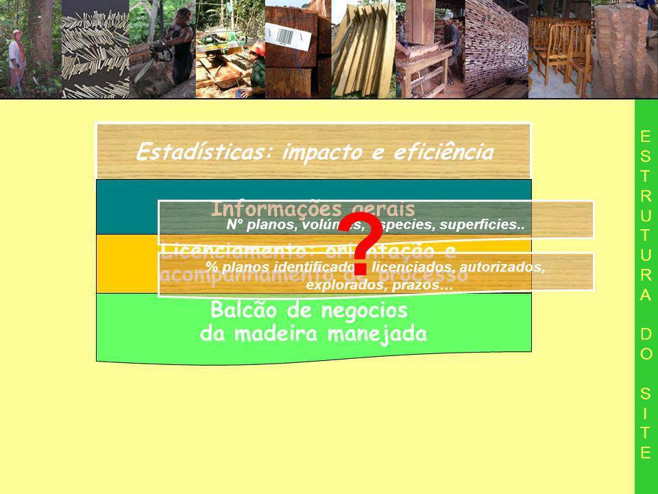 Estadísticas: impacto e eficiência Informações gerais