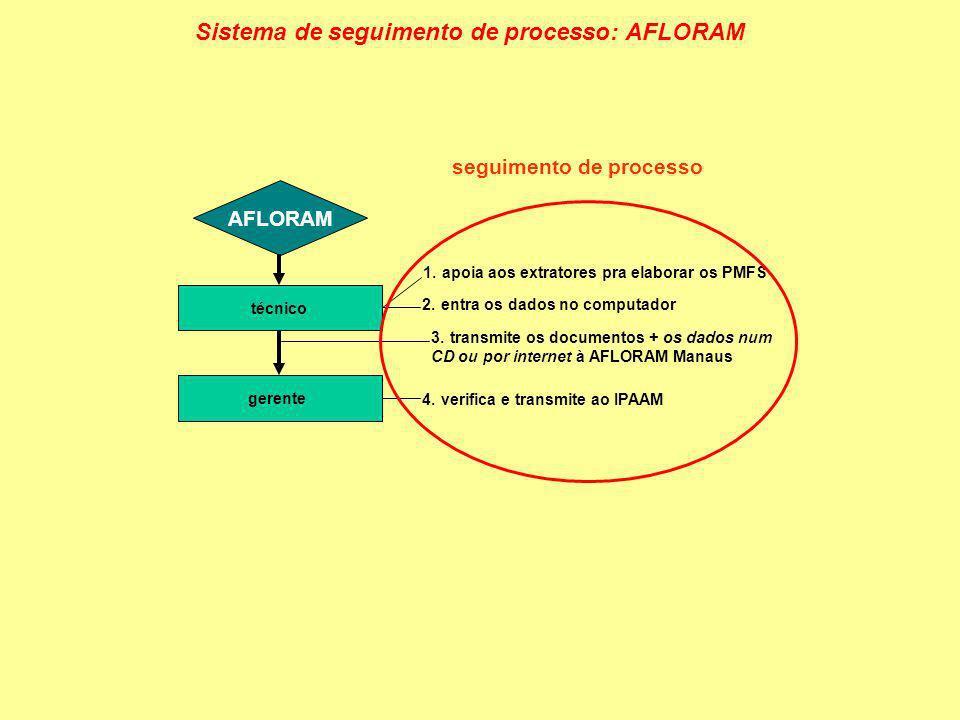 Sistema de seguimento de processo: AFLORAM