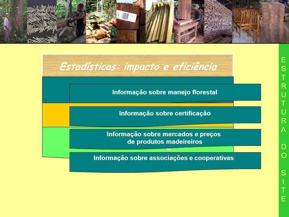 Estadísticas: impacto e eficiência