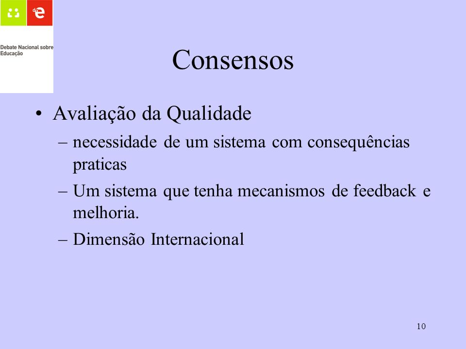 Consensos Avaliação da Qualidade