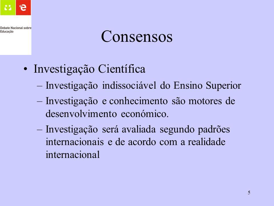 Consensos Investigação Científica