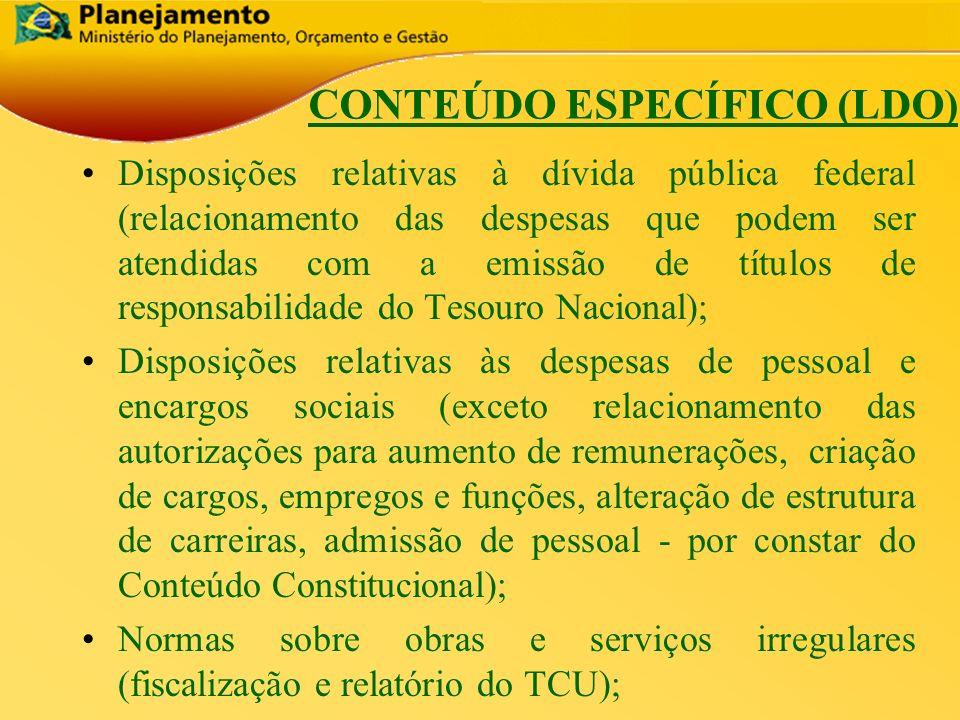 CONTEÚDO ESPECÍFICO (LDO)