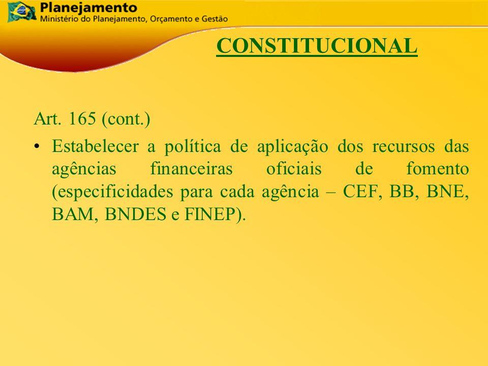 CONSTITUCIONAL Art. 165 (cont.)