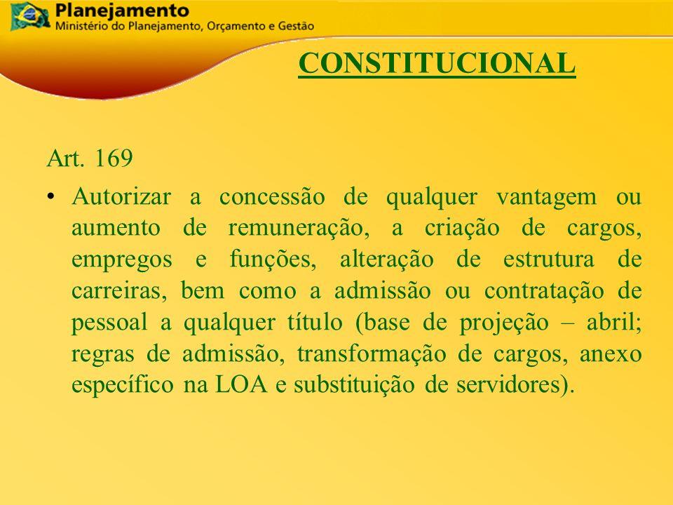 CONSTITUCIONAL Art. 169.