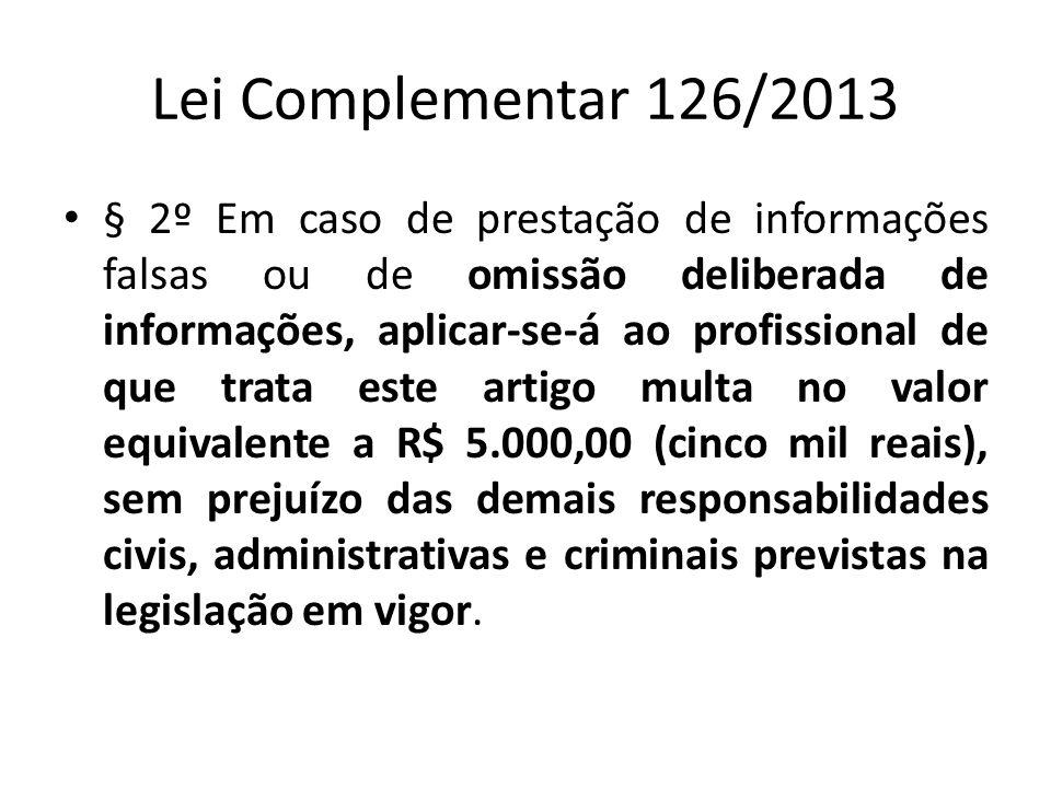 Lei Complementar 126/2013