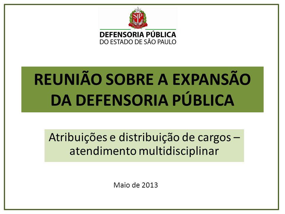 REUNIÃO SOBRE A EXPANSÃO DA DEFENSORIA PÚBLICA