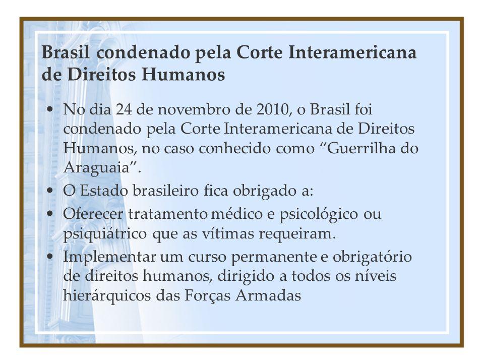 Brasil condenado pela Corte Interamericana de Direitos Humanos