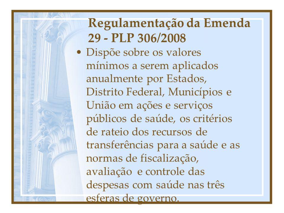 Regulamentação da Emenda 29 - PLP 306/2008