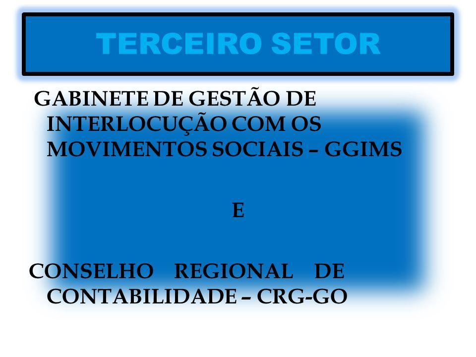 TERCEIRO SETOR GABINETE DE GESTÃO DE INTERLOCUÇÃO COM OS MOVIMENTOS SOCIAIS – GGIMS.