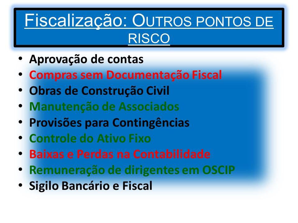 Fiscalização: OUTROS PONTOS DE RISCO