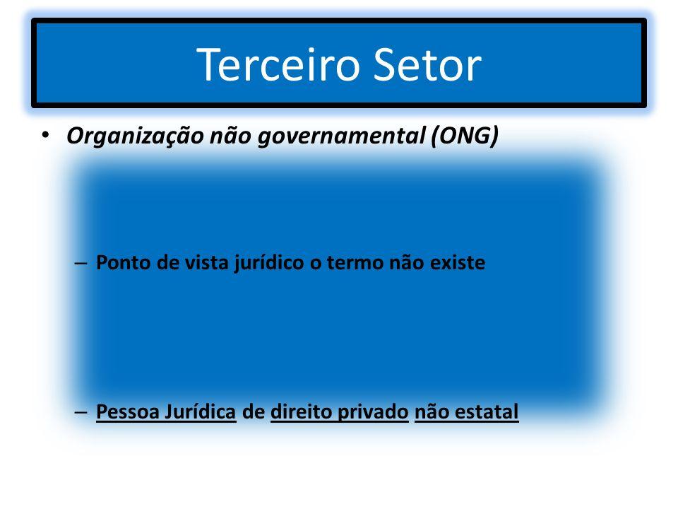 Terceiro Setor Organização não governamental (ONG)
