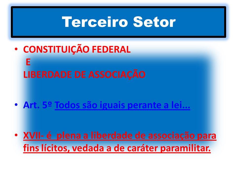 Terceiro Setor CONSTITUIÇÃO FEDERAL E LIBERDADE DE ASSOCIAÇÃO