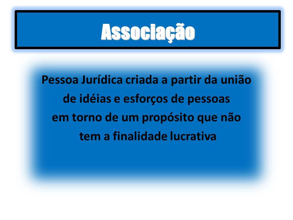 Associação Pessoa Jurídica criada a partir da união