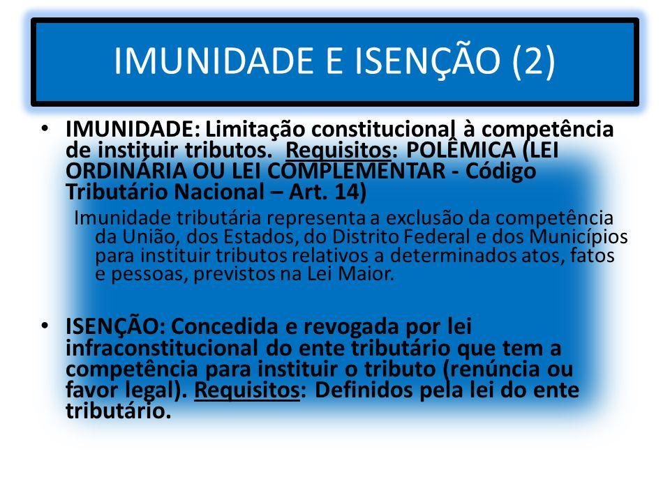 IMUNIDADE E ISENÇÃO (2)