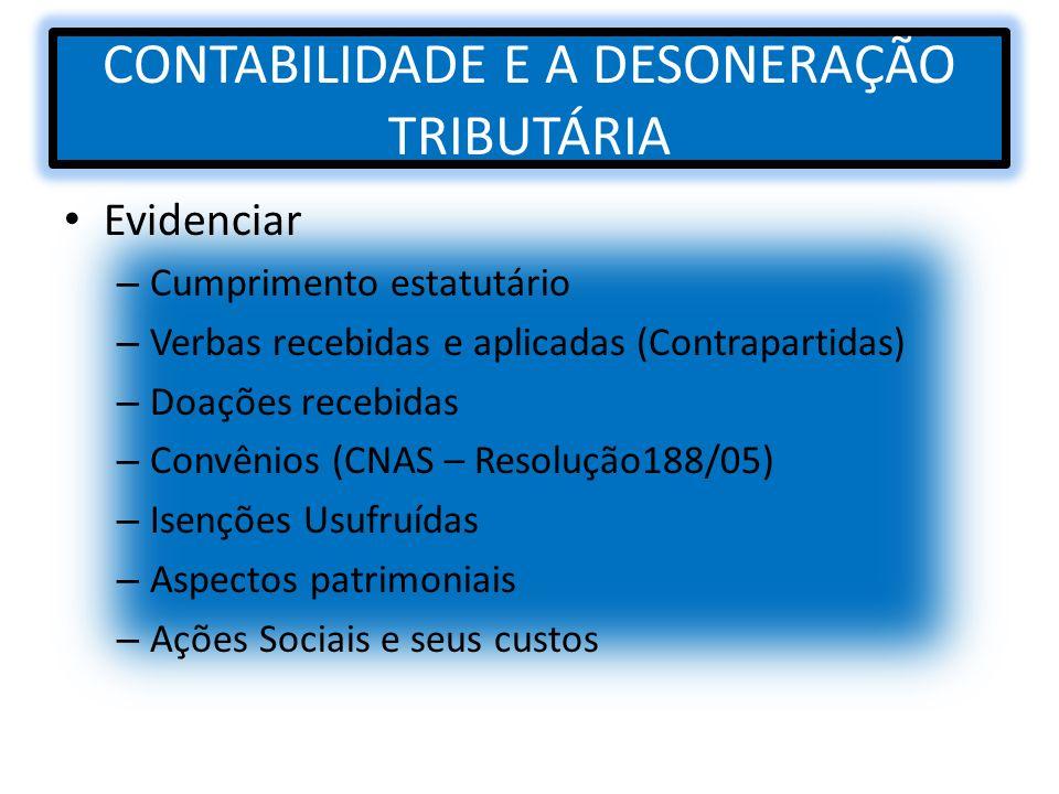 CONTABILIDADE E A DESONERAÇÃO TRIBUTÁRIA
