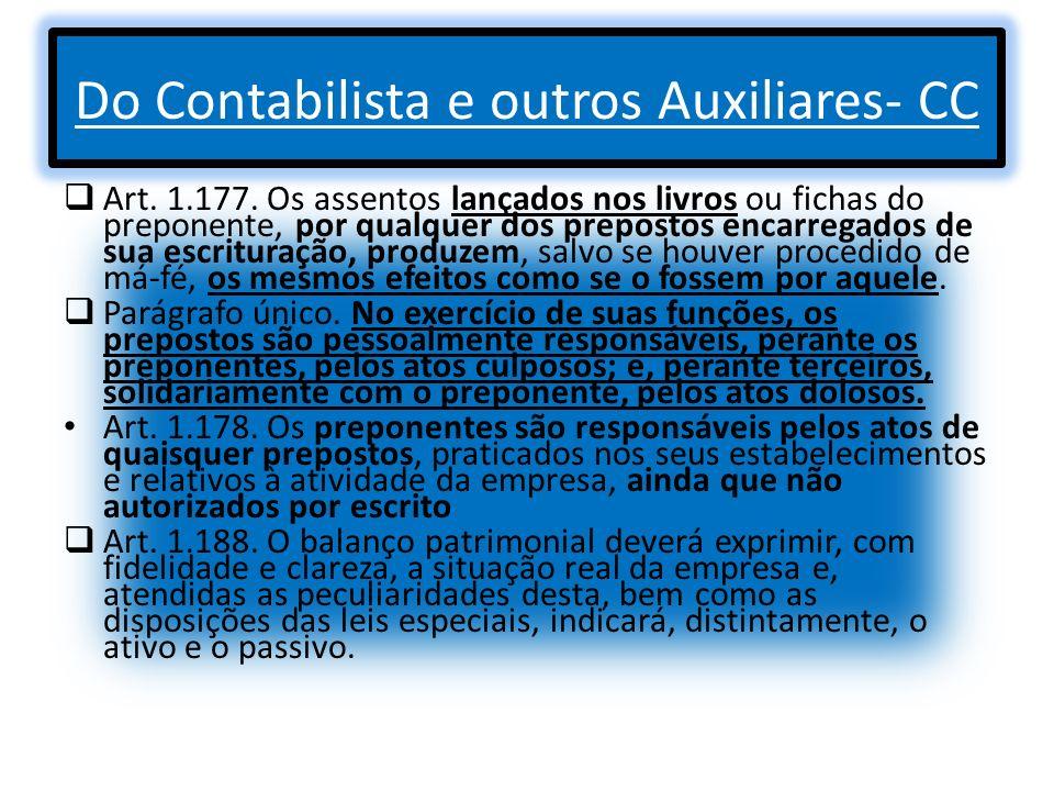 Do Contabilista e outros Auxiliares- CC