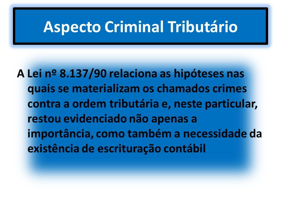 Aspecto Criminal Tributário