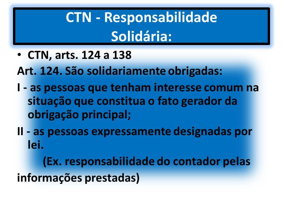 CTN - Responsabilidade Solidária: