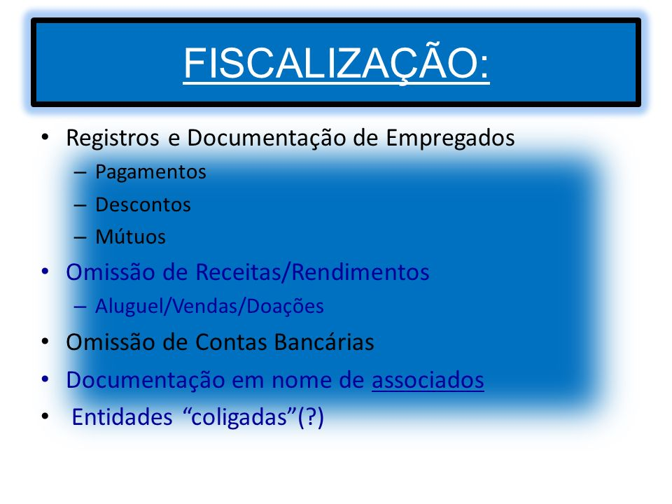 FISCALIZAÇÃO: Registros e Documentação de Empregados