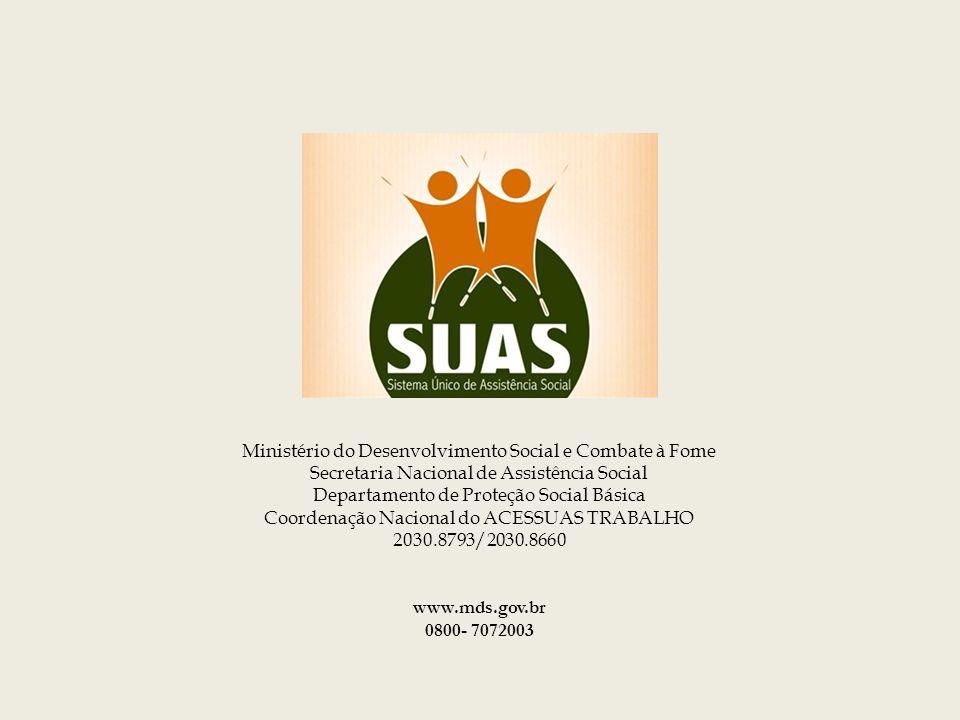 Obrigada ! Ministério do Desenvolvimento Social e Combate à Fome