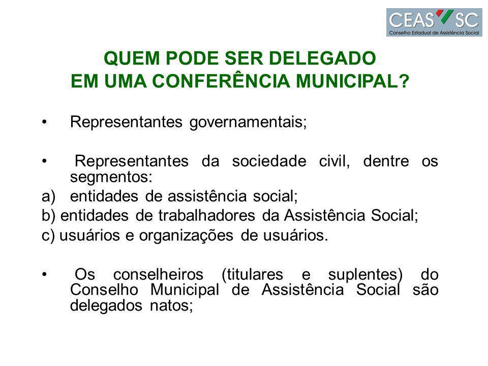 EM UMA CONFERÊNCIA MUNICIPAL