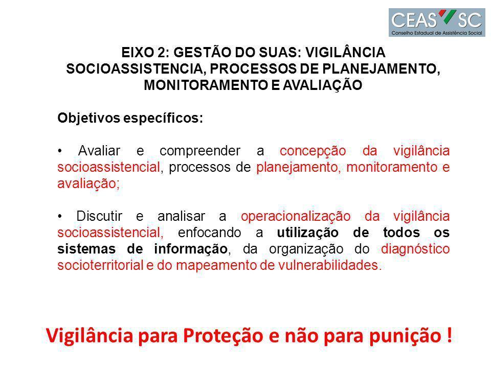 Vigilância para Proteção e não para punição !