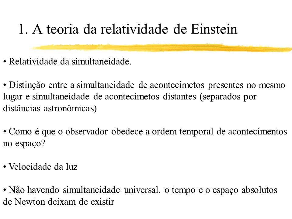 1. A teoria da relatividade de Einstein