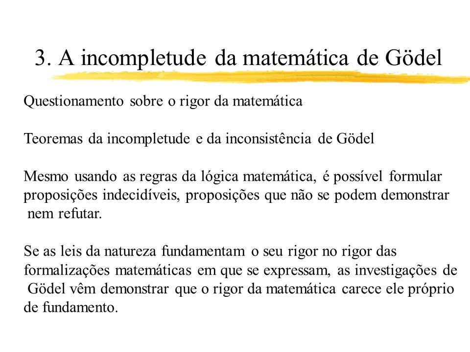 3. A incompletude da matemática de Gödel