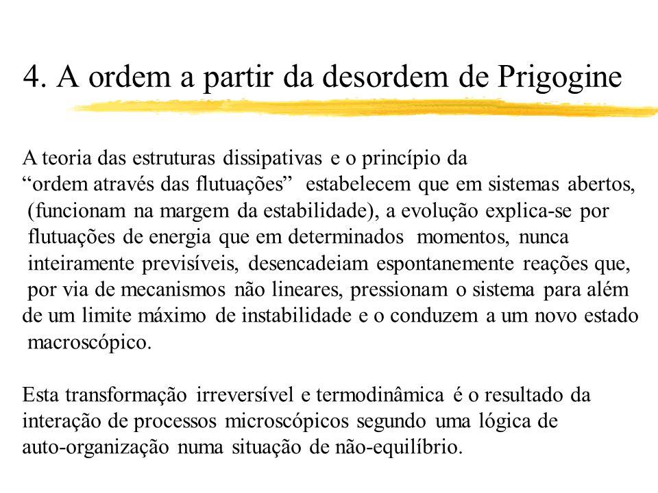 4. A ordem a partir da desordem de Prigogine