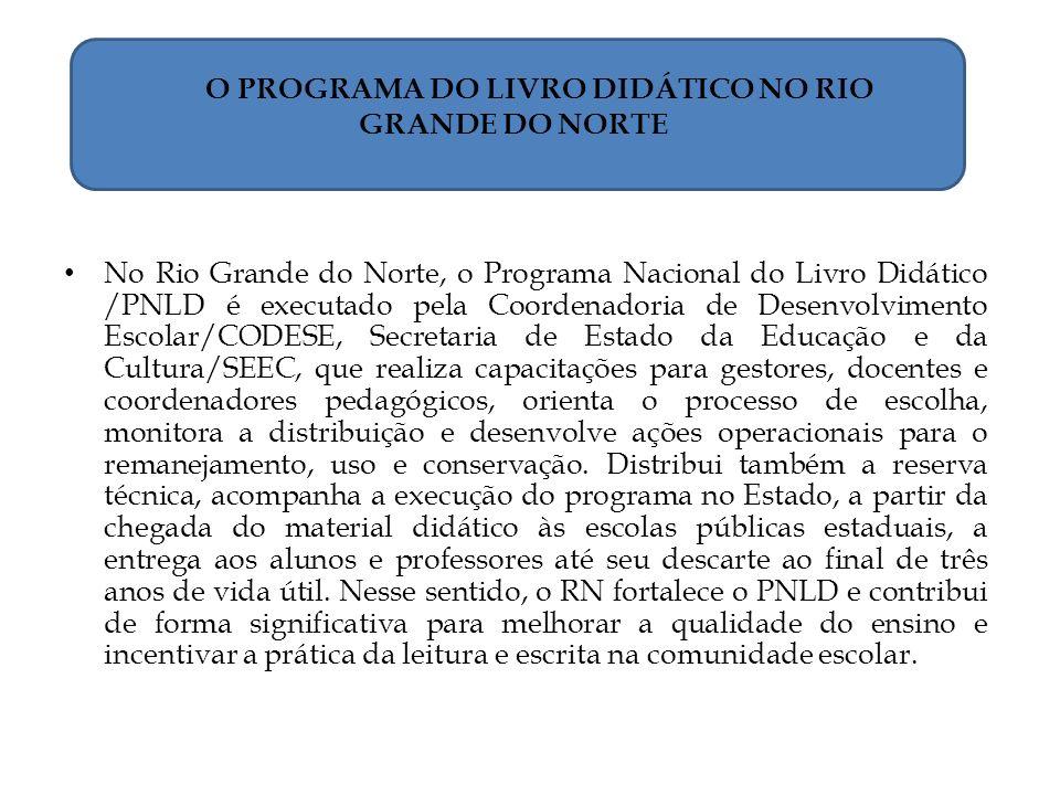 O PROGRAMA DO LIVRO DIDÁTICO NO RIO GRANDE DO NORTE