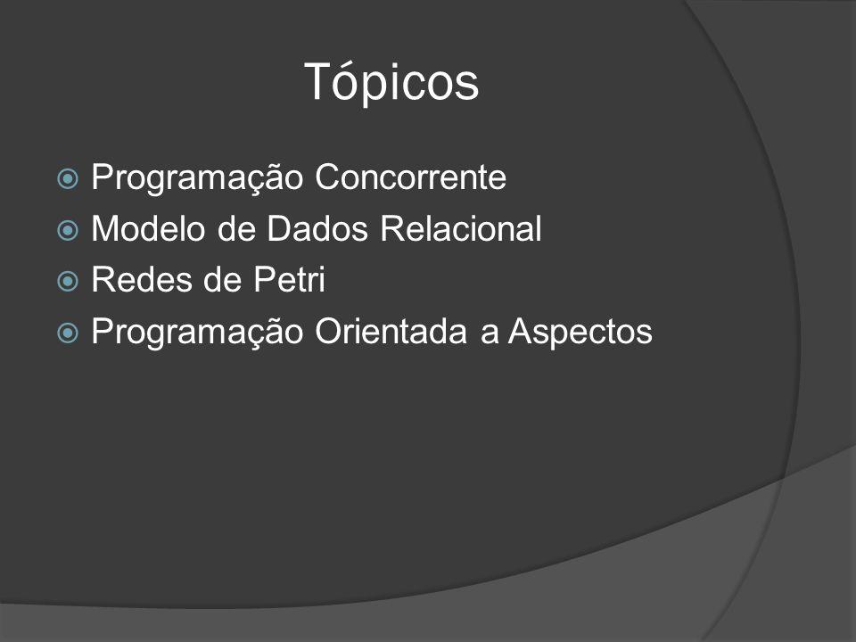 Tópicos Programação Concorrente Modelo de Dados Relacional