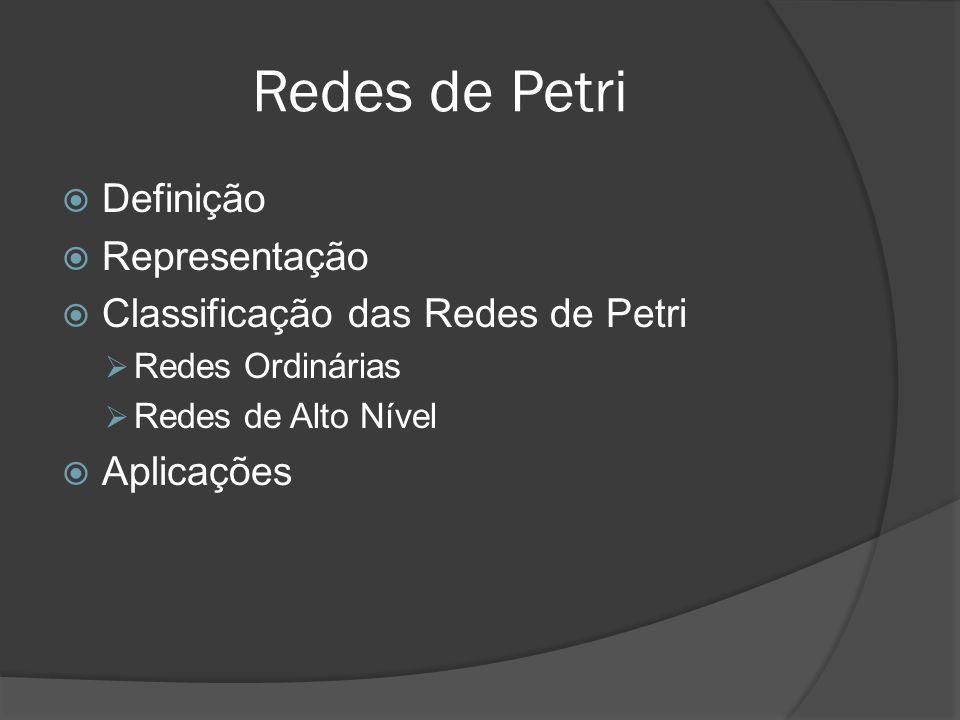 Redes de Petri Definição Representação