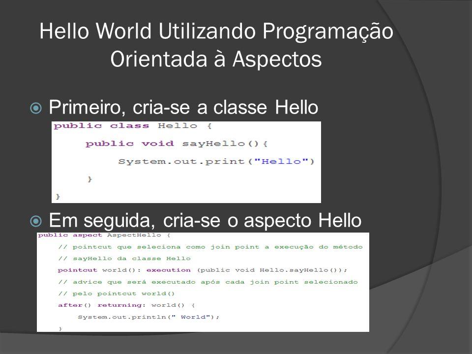 Hello World Utilizando Programação Orientada à Aspectos