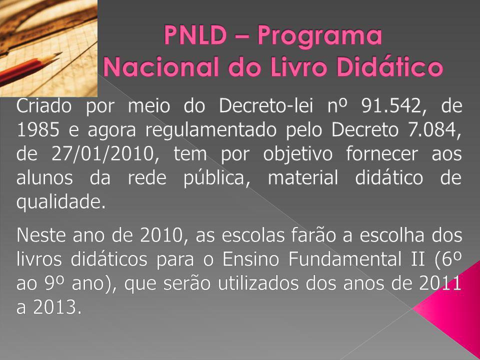 PNLD – Programa Nacional do Livro Didático