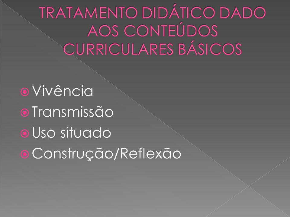 TRATAMENTO DIDÁTICO DADO AOS CONTEÚDOS CURRICULARES BÁSICOS