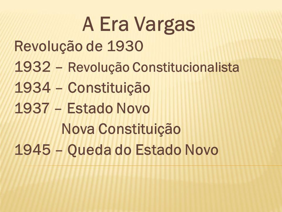 A Era Vargas Revolução de 1930 1932 – Revolução Constitucionalista