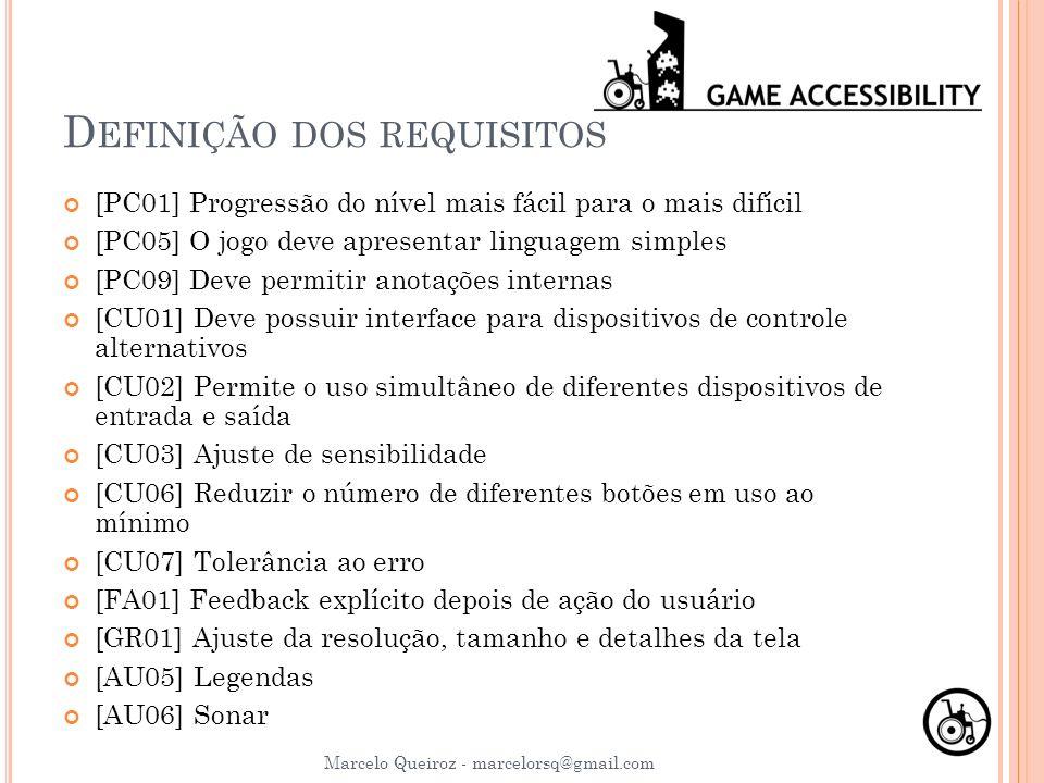 Definição dos requisitos