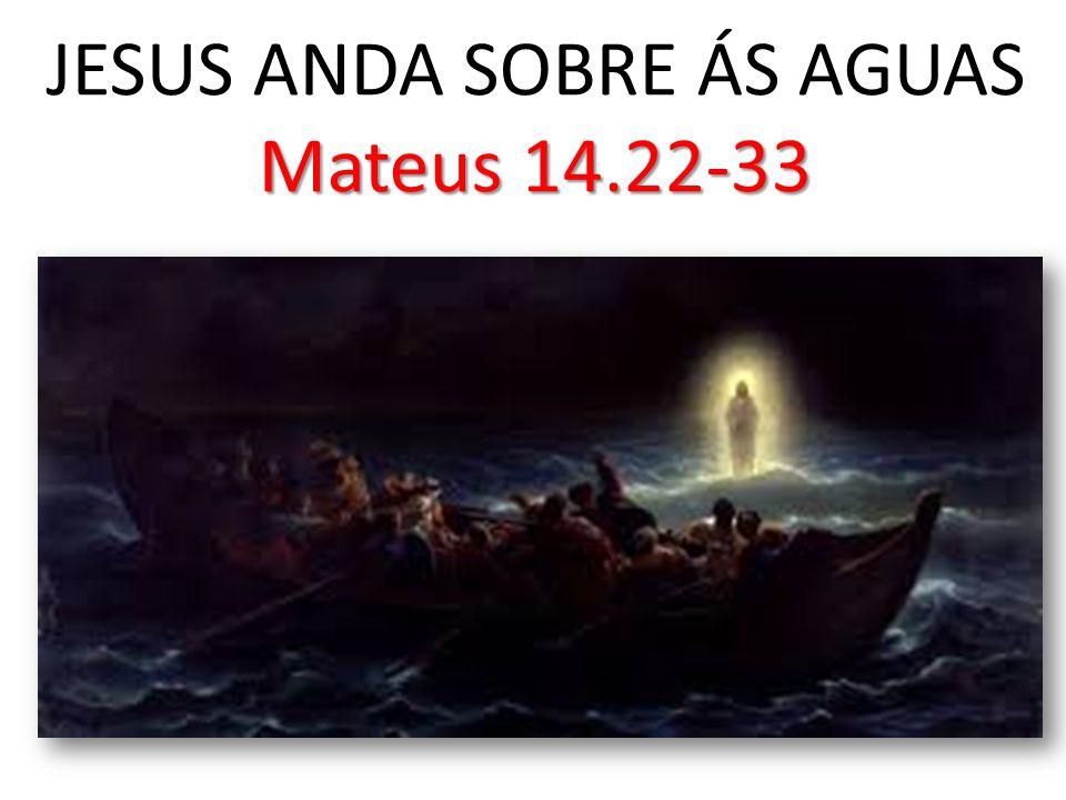 JESUS ANDA SOBRE ÁS AGUAS Mateus 14.22-33
