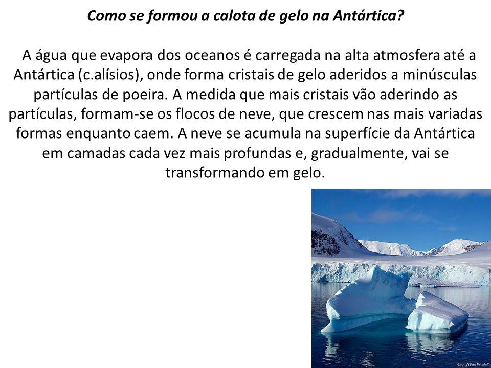 Como se formou a calota de gelo na Antártica