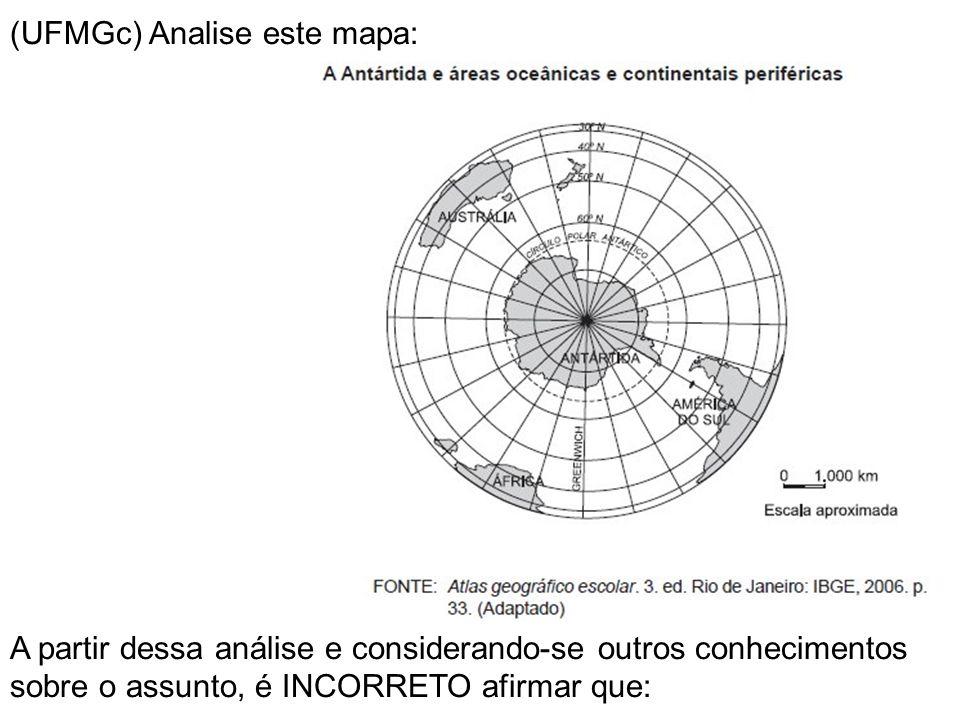 (UFMGc) Analise este mapa: