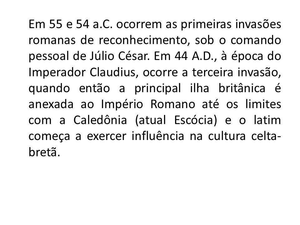 Em 55 e 54 a.C.