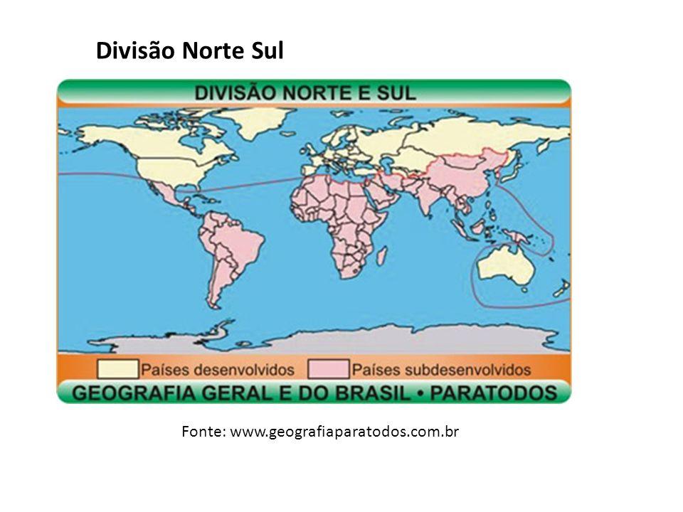 Divisão Norte Sul Fonte: www.geografiaparatodos.com.br