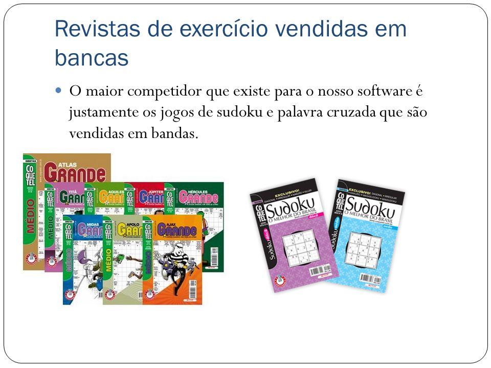 Revistas de exercício vendidas em bancas