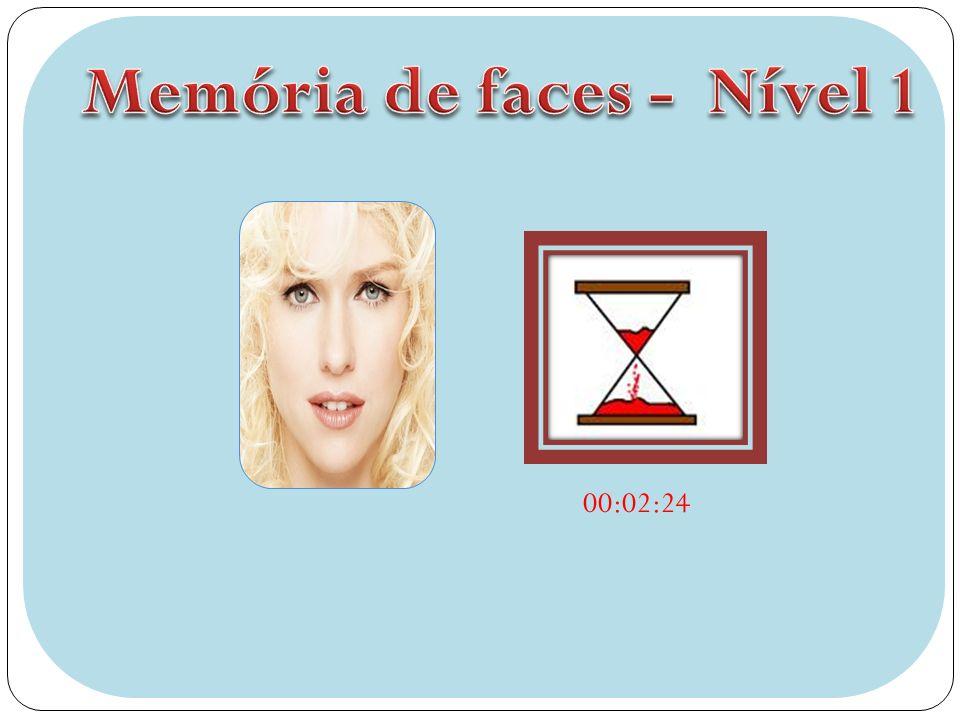 Memória de faces - Nível 1