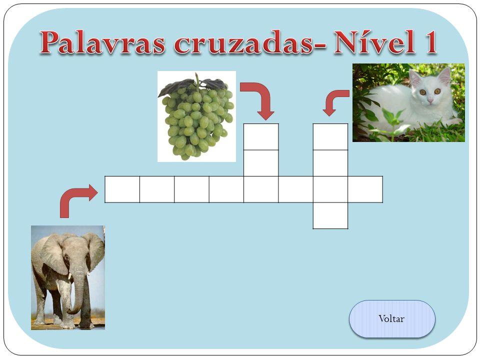 Palavras cruzadas- Nível 1