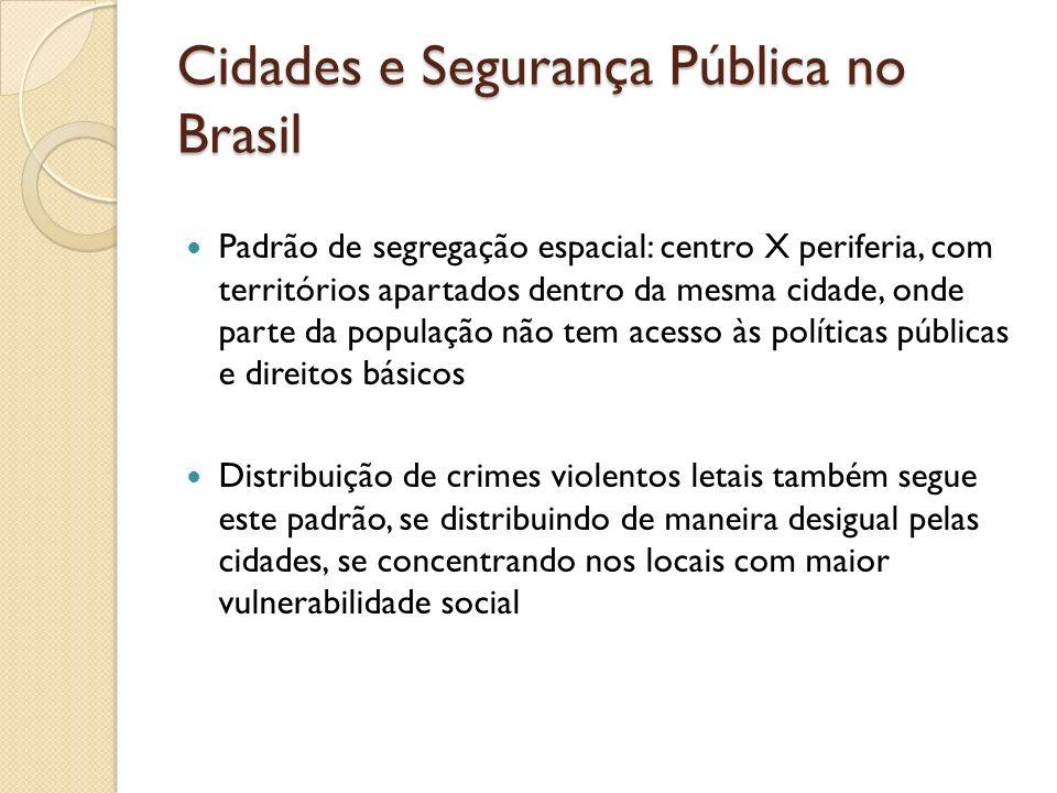 Cidades e Segurança Pública no Brasil